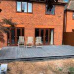 timber built patio